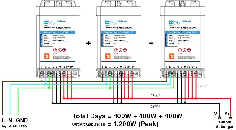 Outdoor Rainproof Power Supply Intelligent Paralel Wiring Diagram